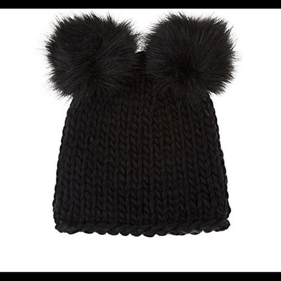 f91aea28a Wool double Pom Pom hat NWT